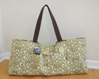 Xlarge Yoga Bag lined with felt made from recycled plastic material-Made to Order