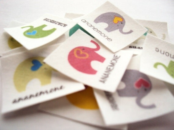 Iron on labels fabric tags personalized custom clothing