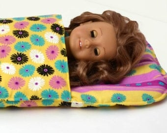 American Girl Doll Sleeping Bag 18 inch Doll Sleeping Bag 18 inch doll bedding