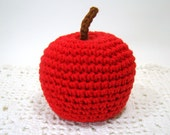 Amigurumi Crochet Apple Toy, Pretend Food Gift for Kid Toddler, Fruit Decor, Choice of Color, Red Delicious, Golden Delicious, Granny Smith