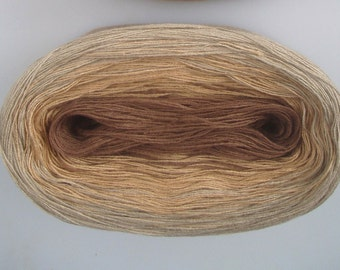 NUTMEG II  Color Changing Cotton yarn  240 yards/50 gr  Fingering Weight