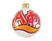 Handpainted Alpha Phi Sisterhood Ornament