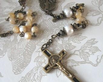Queen of Heaven St. Benedict Pearl Rosary