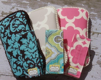 The Couture Mama Travel Baby Wipes Case and Diaper Strap- YOU Choose the Fabric