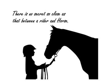 Horse decal-Horse sticker-Quote decal-Horse wall decor-Quote sticker-28 X 25 inches