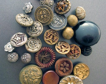 Vintage Metal Buttons Military Buttons Sewing Supply Button Lot
