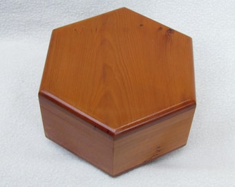 Yew Solid Wood Jewelry Box, Treasure Box
