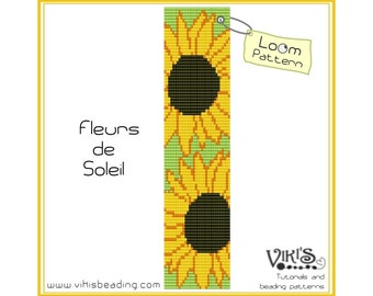 Loom Bracelet Pattern: Fleurs de Soleil bracelet - INSTANT DOWNLOAD pdf - Multibuy savings with coupon codes - bl259