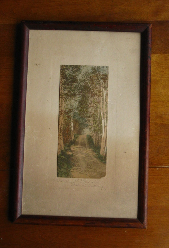Wallace Nutting Hand Colored Photo Framed By Maggiemaevintage