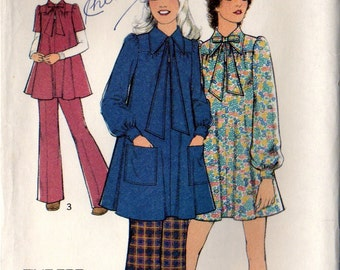 70s Vintage Smocks and Trousers Style 3961 Uncut Sewing Pattern, Size 10