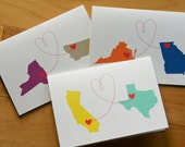Personalized States and Love card (1 card)