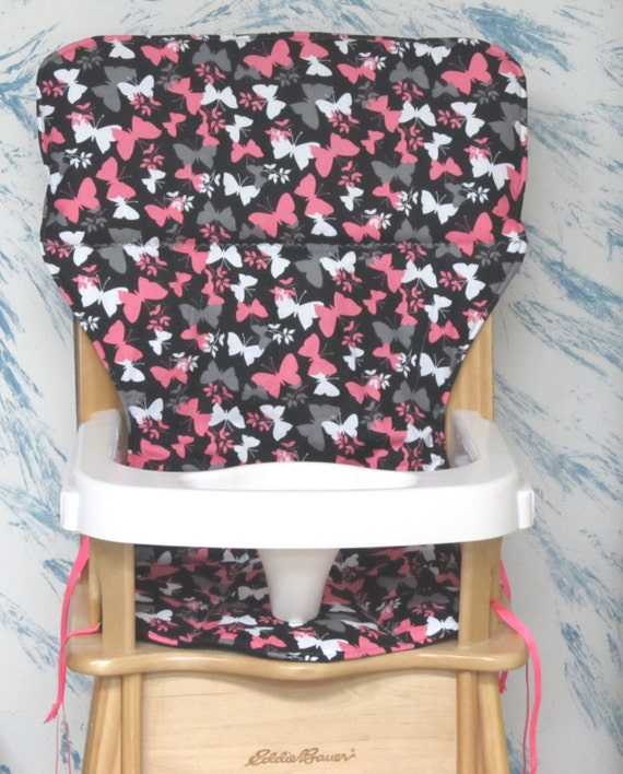 Eddie Bauer High Chair Cover Replacement Pad Hot Pink