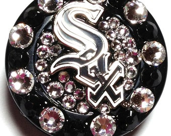 Chicago White Sox Swarovski Crystal Embellished ID Badge Reel