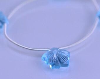 Blue Topaz Briolettes AAA Blue Topaz Flower Beads