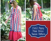 INSTANT Download PDF SIG Poppy Maxi Dress - Size 6 to 14 Tween, Youth, Teen, Girl