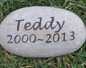 Personalized Pet Dog Memorial Stone Garden Gravestone 5-6 Inch Memorial Cemetery Burial Tombstone Grave Marker