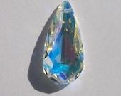 1 Swarovski Crystal Pendant Focal point 24mm TEARDROP Pendant 6100 Crystal Beads CRYSTAL AB