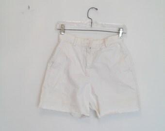 vintage 90s j crew high waist cut-off shorts diy xs