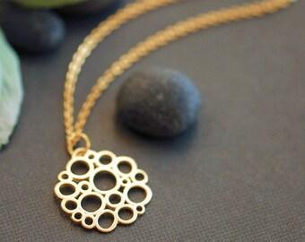 Golden bubbles necklace