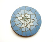 fridge magnet - Mosaic with stained glass and ceramic tiles - abstract design
