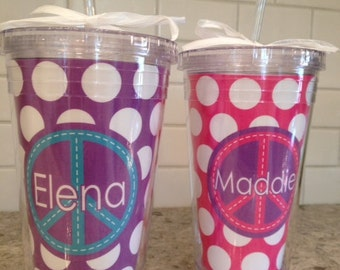 Personalized 16 oz Tumbler--Use any Simply Stella Design