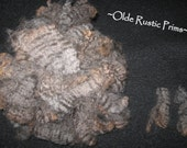"Gorgeous Gray 3 1/2"" Washed and Separated Crimpy Wool for Primitive Doll Hair-ONE FULL OUNCE"