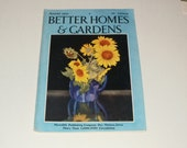 Vintage Better Homes and Gardens Magazine August 1932 - Flower Cover, Retro 1930s Art Scrapbooking Paper Ephemera