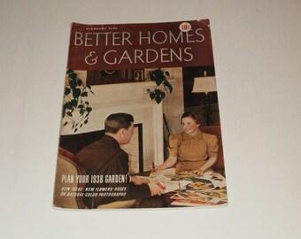 Vintage Better Homes and Gardens Magazine February 1938  Scrapbooking - Paper Ephemera - Vintage Ads