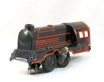 Tin Windup Train Vintage 1940s US Zone Germany Windup Tin Toy Locomotive
