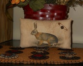 Primitive Rabbit printed pillow tuck