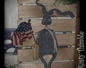 Primitive and Rusty  American Rabbit