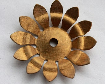 3 Vintage 1960's Brass Flowers