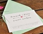 Arrows of Love Wedding Invitation - PaperandPinafore