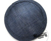Navy Blue Round Millinery Sinamay Hat Base for Fascinators and Cocktail Hats
