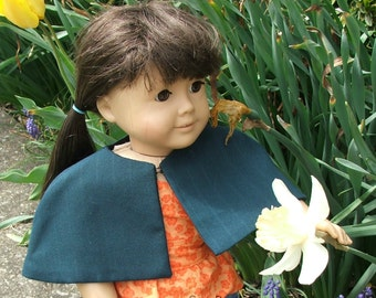Green Cape for American Girl Doll