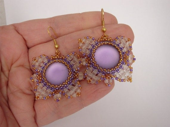 Bead pattern butterfly earrings  - Pdf file - Beading tutorial pdf