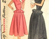 Vintage 1940s Dress Pattern Simplicity 2238 UNCUT 32 bust size 14 S XS