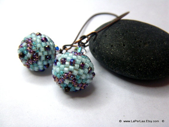 Beaded beads earrings - BE MY STAR - Globe Beaded Earrings