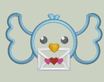 Mailing Bird Applique Design