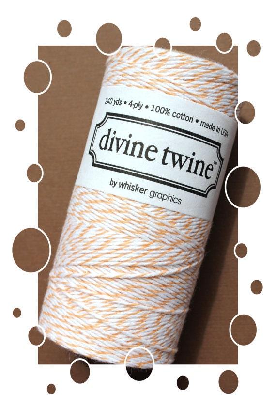 SALE Bakers Twine in Light Orange (15 Yard Bundle) DIVINE TWINE