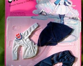 1975 Vintage Barbie PETITE Free n' Easy Doll Clothes - ICE SKATING Outfit - with Accessories