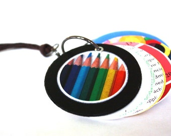 Journal Necklace / Miniature Sketch Book Necklace : Art is Everything Necklace