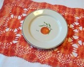 Newly Dyed Vintage Crocheted Placemats set of 2