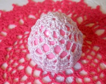 Crochet Lace Covered Plastic Egg