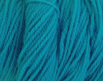 Frost Blue Worsted Weight Hand Dyed Merino Wool Yarn Aqua