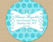 Shabby Dots - Custom Personalized Address Labels or Stickers