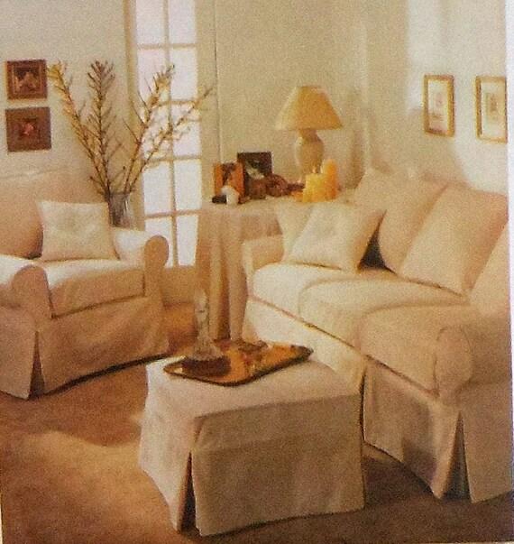 Slipcover Sewing Pattern Uncut Mccalls 3278 Chair Ottoman Sofa