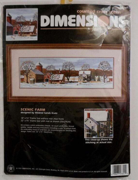 Dimensions Scenic Farm Counted Cross Stitch Kit