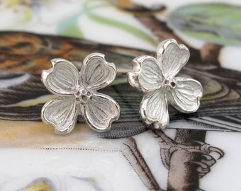 Dogwood Flower Earring Botanical Sterling Silver Post