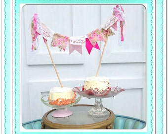 Shark Attack PINK Cake Bunting by Oversoul